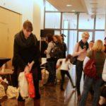 Anmeldung und Goodie-Bags